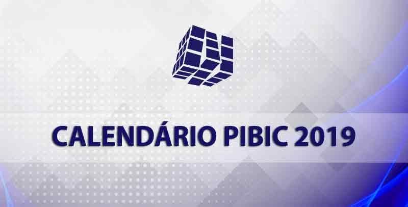 Calendário PIBIC - 2019